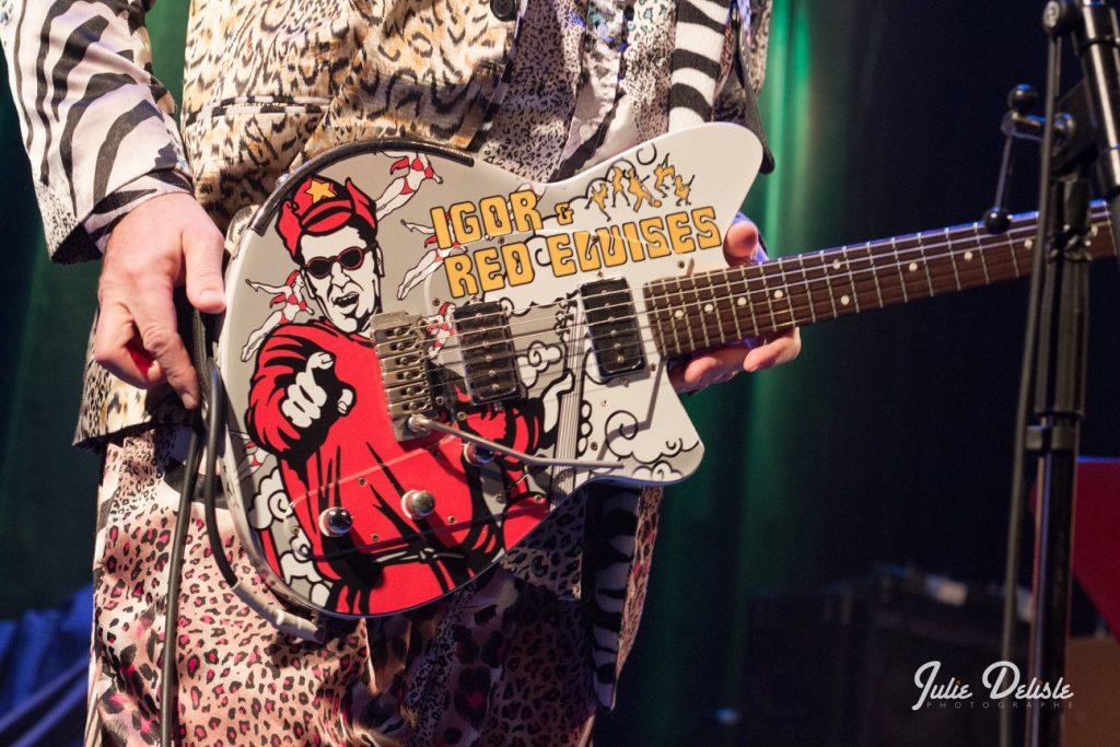 Red ELvises guitar